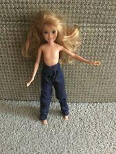 Stacie Doll Pants Dark Denim Blue Jeans Pleated Straight Leg 90's Vintage Pants