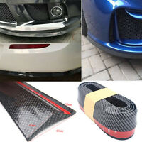 Universal Carbon Fiber Front Bumper Lip Soft Splitter Chin Spoiler Body Kit Trim