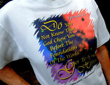 "Christian ""Foundations"" White Tshirt Unisex Small Size - NICE!"