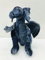 "Russ Kronos Dragon Stuffed Animal Plush Blue Toy 11"""