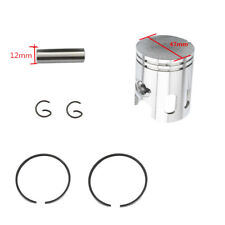 70cc Piston Ring Set 47mm w/12mm Pin for Jog Minarelli Scooter Moped Bike Motor