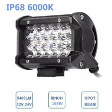 LED Work Light Fod Driving Lamp 54W 6000K Spot Beam IP67 for Car Jeep Off-Road