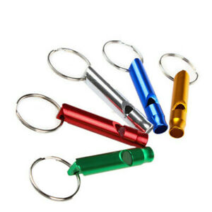 10pcs Long Mini Survival Emergency Whistles Keychain Camping Hiking Outdoor Tool