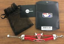 Cool Chicago Bulls tri-braid  bracelet for young girls or women. Size small