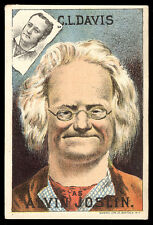 Vaudeville ALVIN JOSLIN Bühne Show Old Trade Card * 180 lacht * Kostenloser Versand tc461