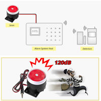 Newest 120dB DC 12V Mini Wired Horn Siren Home Security Sound Alarm System US