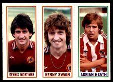 Topps Football 1981 Blue 14. Mortimer / 20. Kenny Swain / 98. Adrian Heath