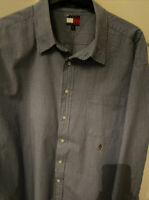 Tommy Hilfiger Mens Blue & White Checked Long Sleeved Shirt Size XXL