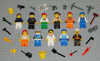 Lego MINIFIGURES Lot 11 People Police Fireman Girl City Space Toys Guys Minifigs