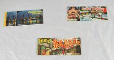 Lot of 3 Long Postcard Books Gateway Arch Santas Workshop & Freeport Bazaar u1p4