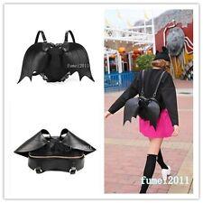 Il Nero Gotico Pipistrello Cuore Zaino ali goth punk pizzo lolita visuale kei