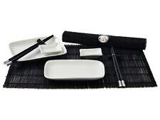 Sushi Service Set 12 tlg. schwarz/weiß Japan Style 2 Personen sushi geschirr NEU