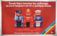 PUBLICITÉ JOUETS M SAVOIR FAIRE MARCHER LES UNIFORMES