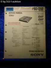 Sony Service Manual PBD D50 Portable DVD Rom Drive (#6035)