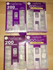 4 Nailene Full Cover Nails, Active Square 200 ea