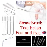 ✅10x STRAW BRUSHES BABY TEAT BOTTLE PIPE CLEANING Dr Browns Tommee Tippee Avent✅