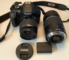 Canon EOS Rebel T6 DSLR Camera Bundle with 18-55mm & 75-300mm Lens Lightly Used