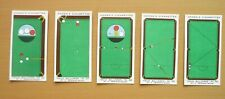 New listing 5 Ogden's Trick Billiards Cigarette Cards - Numbers 36 To 40 - Hard To Find!