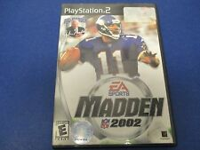 PlayStation 2, Madden 2002, EA Sports, Rated E, #1 For A Reason!