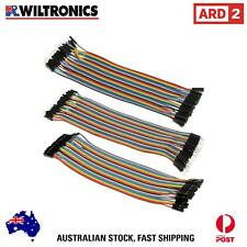 Arduino Compatible Jumper Lead Set of 3 x 40pk Strips Rainbow 200mm CN3604