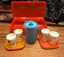 TUPPERWARE  KIDS PICNIC TEA SET & RECTANGLE KEEPER JUG PLATES CUPS