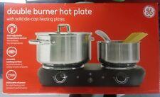 GE Double Burner Hot Plate Electric Buffet Range Portable Stove Adjustable Temp