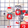 Christmas Dog Ornaments Wooden Pendants DIY Xmas Tree Hanging Ornament Decor PL