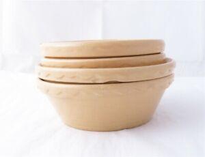 4- Mason Cash & Co Church Gresley England Small #2 Yellowware Bowls