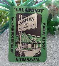 Vintage Lalapanzi The Bushveld Inn Luggage Sticker Label NTransvaal South Africa