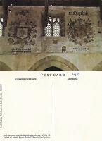 1980's MURALS IN THE PARISH CHURCH EYAM DERBYSHIRE UNUSED COLOUR POSTCARD (a)