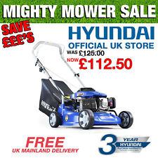"""Hyundai Petrol Push Lawnmower 40cm 16"""" inch Cut Lightweight Lawn Mower HYM400P"""