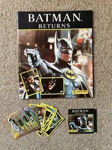 Batman Returns 1992 Panini Stickers Album Packet Tim Burton DC Comics Foil Rare