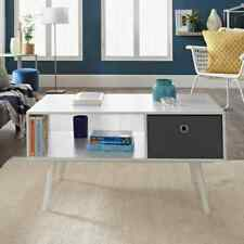 Modern Coffee Table Sofa Cocktail Table Under Shelf Storage Living Room