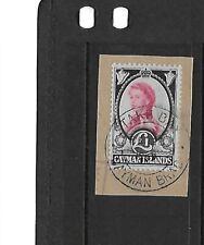 Cayman Islands 1962/4 £1 Queen Elizabeth VFU on piece
