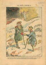 Caricature Politique Russo-Japanese War Guerre russo-japonaise 1905 ILLUSTRATION
