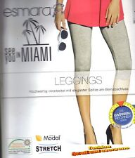 Esmara Leggings Größe 36/39 S grau Neu mit Etikett see you in Miami