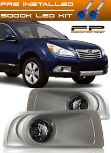 OE Style Replacement Fog Light Set w Bulbs For 2010-2012 Subaru Legacy /& Outback