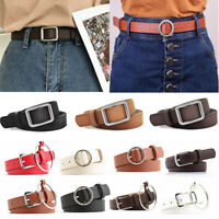 Genuine Leather Women Casual Solid Color Hip / Waist Dress Buckle Belt Waistband