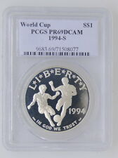1994 S United States World Cup PCGS Pr69Dcam Silver Dollar Coin $1