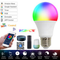 15W E27 Wifi Smart LED Light Bulb Dimmable Lamp For Alexa Google Home RGB +White