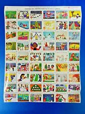 More details for full sheet 54 christmas charity seal greetings from the children of america 1978