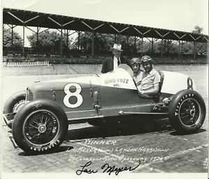 Lou Meyer 1936 Indy Indianapolis 500 Vintage period Qualification signed photo