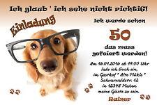 40 witzige tierische Einladungskarten Geburtstag Einladungen jedes Alter Hund