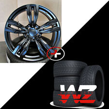 "20"" Wheels/Tires fits BMW 6 Series 7 Series M6 Sport Style 433 F12 Rims Black"