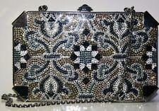 Judith Leiber Swarovski Crystals Jewel Clutch Minaudiere Handbag Bag