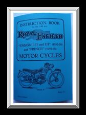 Royal Enfield ENSIGN 1, 2, 3 & PRINCE also AIRFLOW Instruction Manual Booklet