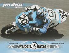 2008 Aaron Yates MICHAEL JORDAN MOTORSPORTS Suzuki Superbike AMA postcard