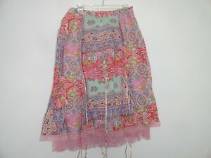 April Cornell Pink Skirt New XL Extra Large Vintage Romantic A-line NWT Floral