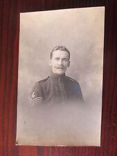 BRITISH SOLDIER PORTRAIT BANDSMAN SERGEANT FIRST WORLD WAR RP POSTCARD