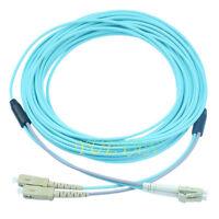1m Armored LC-SC UPC MM OM3 10GB Cable Duplex Fiber Optical Jumper Patch Cord